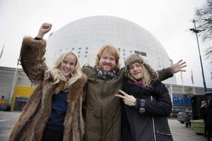 Amanda Winberg, Martin Almgren och Simon Zion kommer på fredagskvällen att ställa sig på scenen i Globen i Stockholm för att göra upp om segern i