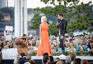 Petra Marklund och Måns Zelmerlöw möttes i GES-duetten
