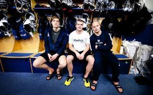 Johan Ryno, Patrik Hersley och Oscar Alsenfelt fick lämna Modo – nu gör trion succé i Leksand och i kväll möter de sitt gamla lag. Foto: Johan Solum