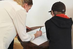Maja Wreiding delade upp barnen i fyra grupper.