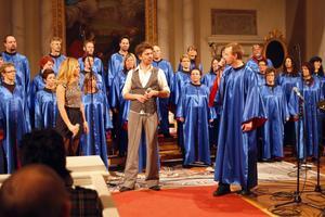 Anna Sahlin, Jakob Stadell och Christer Nilsson hade de tre största rollerna vid söndagens konsert i Färila kyrka.