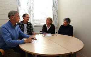 I små grupper diskuterades många frågor. Foto: Johnny Fredborg