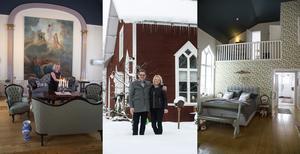 Sovrummet med uppståndelsen, missionshuset som klär i snö.