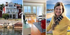 Lena Osseen-Nordberg älskar sitt hus i Utvalnäs som förvandlats från enkelt fiskarhem till bekväm villa med svårslagen utsikt.