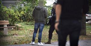 Bilden är från den nationella insatsen mot människohandlare som genomfördes i bland annat Västerås i december 2018.