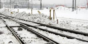 Tågtrafik ersätts med bussar eller leds om under måndagen. Foto: Henrik Montgomery/TT