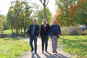 Den budget som majoritetspartierna har lagt fram är full av floskler. På bilden: Per-Åke Sörman (C), Marlene Jörhag (KD) och Kenneth Handberg (S).