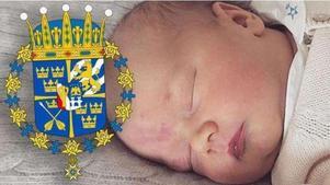 Prins Gabriel med sitt dalainspirerade vapen.Foto: Kungahuset.se/Riksarkivet