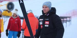 Felix Monsén efter fredagens störtloppsträning i Åre.