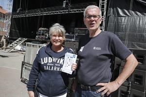 Susanne Sakofall i Unika Ludvika och festgeneralen Håkan Rosén hoppas att alla kommuninvånare och många andra tar chansen och deltar i kalaset. Enligt de senaste prognoserna ser det ut som att hundraåringen har vädergudarna på sin sida.