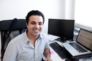 Arian Bahrami, entreprenör, fotograferad 2011, tidigt i sin karriär. Foto: Per G Norén