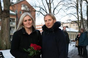 Frida Sikberg och Jasmine Grudemo är vänner till Anders dotter Ida.