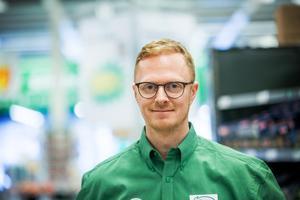 Erik Nilsson, butikschef för Coop i Falun.