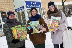 Arrangörerna Marika Larsson, Hanna Netterberg-Lundkvist och Kajsa Dufbäck har redan rensat sina hem på leksaker och böcker som de tänker ta med till leksaksbytardagen på lördag den 16 december.