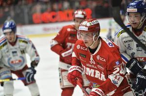Molinder under kvalet mot IK Oskarshamn i våras. Det blev hans sista matcher som professionell hockeyspelare.
