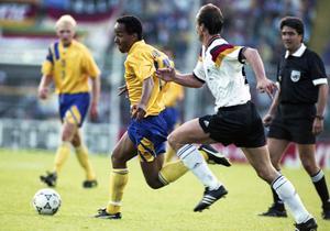 Fotbolls-EM 1992, Semifinal, Tyskland - Sverige, 3-2: Martin Dahlin, Sverige.