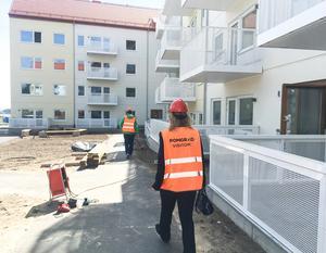 Nynäshamnsbostäders nyaste bygge vid Nynäsvägen i stadsdelen Telegrafen är på väg att bli klar.