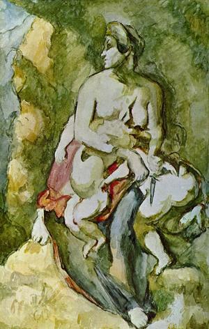 Sådan är kvinnans natur. Medea har precis mördat sina barn. Målning av Paul Cézanne från 1885.