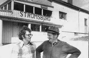 Äldre arkivbild från Strömmen på ägarna Karin och Georg Grundström. Foto:  Nya Norrland -73