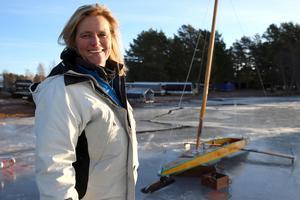 Nicolette Nodorp från Holland tävlade inte denna dag utan följde med ut på sjön som åskådare.