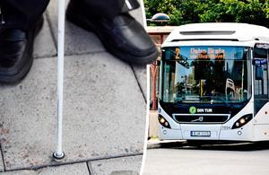Synskadades riksförbund i Västernorrland kommer med en rad förslag för att förbättra kollektivtrafiken för synskadade. Bild: Carolina Wahlberg / Ove Öst