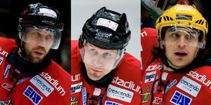 Tre tunga namn – Peter Forsberg, Markus Näslund och Mats Zuccarello. Foto: Robin Nordlund (Bildbyrån).