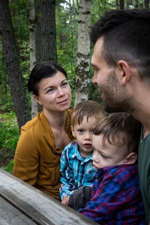 Familjen Koba från vänster: Katarina, Oskar, Viktor och Christopher.