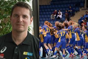 Andreas Lundmark byter damlandslaget mot herrlandslaget.Foto: TT/IFF