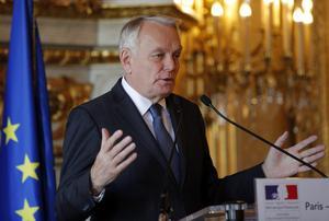 Frankrikes utrikesminister  Jean-Marc Ayrault .