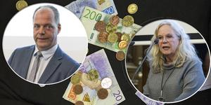Montage. Kommunalrådet John-Erik Jansson (C) och oppositionsrådet Maria Lind (S).