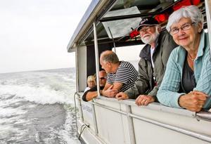 Från höger Boje Bodin med maken Claes-Henrik Bodin. Till vänster om honom står Stefan Forell från Söderhamn med vänner Jonny Zätterman.
