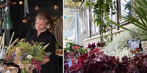 Anna Eiward gjorde hobbyn till sitt yrke genom att öppna en egen blomsterbutik i Hedemora.