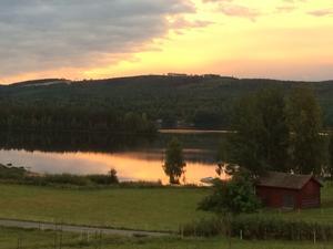 Höstmorgon över Ljusnan i Änga, Järvsö