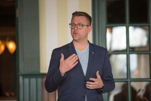Fredrick Federley (C) besökte Mora hotell och träffade såväl partivänner som EU-intresserade