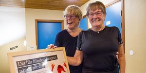Solveig Olsson har hållit på med qigong i närmare 15 år och Daga Eriksson med gympa i över 30. På tisdagens internationella äldredag visade de upp sina kunskaper för besökarna.