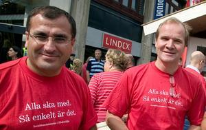Yilmaz Kerimo (S) och Anders Lago (S). Foto: Magnus Grimstedt