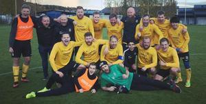 Stuguns BK säkrade platsen i division 4 med en 5–1-seger hemma mot ÖFK Cosmos. Foto: Stuguns BK