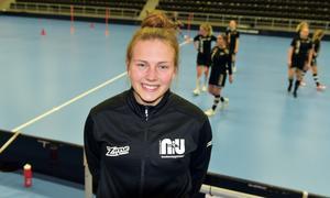 Ida Sundström från Örnsköldsvik Innebandyklubb är tillbaka i Skyttis Arena efter landslagsdebuten.