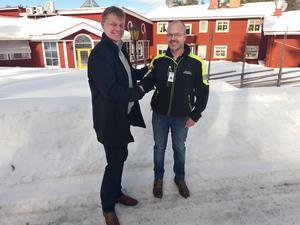 Mattias Skoglund och David Sundqvist är sedan en vecka kompanjoner. (Stefan Persson)