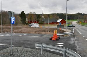 Den nya pendlarparkeringen vid Bredestad.