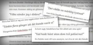 Läsarnas minnen och känslor från händelserna kring Flinkmorden.