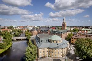 Utsikt från det nya Kulturkvarteret i Örebro. Nu lanseras idén om att Örebro ska kandidera till Europas kulturhuvudstad.