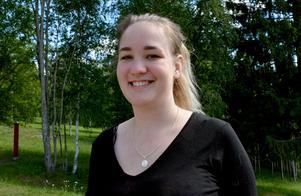 Moa Johansson har ännu inte bestämt sig för om det är läraryrket hon ska satsa på i framtiden. Innan hon tar beslutet vill hon jobba ett tag.