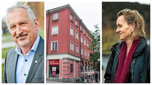 Juan Copovi-Mena, vd för Telge bostäder, och Boel Godner (S), ordförande i kommunstyrelsen. Foto: Edis Potori, Linus Chen Magnusson och Diana Savina