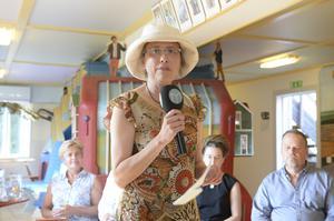 Stiftelsen Mannaminnes nyvalda ordförande Annika Wångby Stattin hälsade alla välkommen.