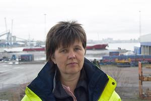 Carola Alzén, VD för Mälarhamnar i Västerås och Köping.