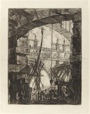 Fjärde gravyren i Giovanni Battista Piranesis serie