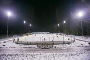 Det nya allaktivitetshuset ska byggas på Hedesunda IP. Foto: Erik Engelro