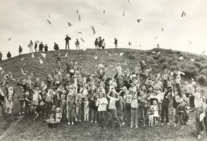 Papperssvaletävling 1981. Foto: Johny Gladh/VLT:s arkiv