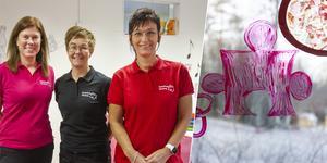 Annica Persson, Monica Tuohimaa och Pia Lindestam är de tre delägarna på Pusselbiten. Monica Tuohimaa och Pia Lindestam är förskolechefer.
